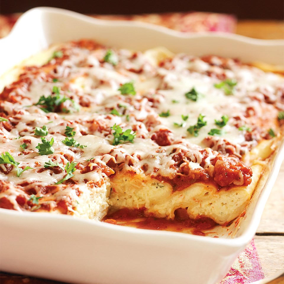 Three Cheese Manicotti Recipe