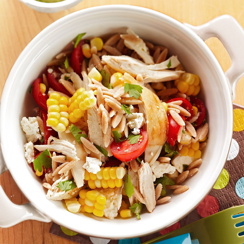 Orzo Chicken Salad With Avocado-Lime Dressing Recipe