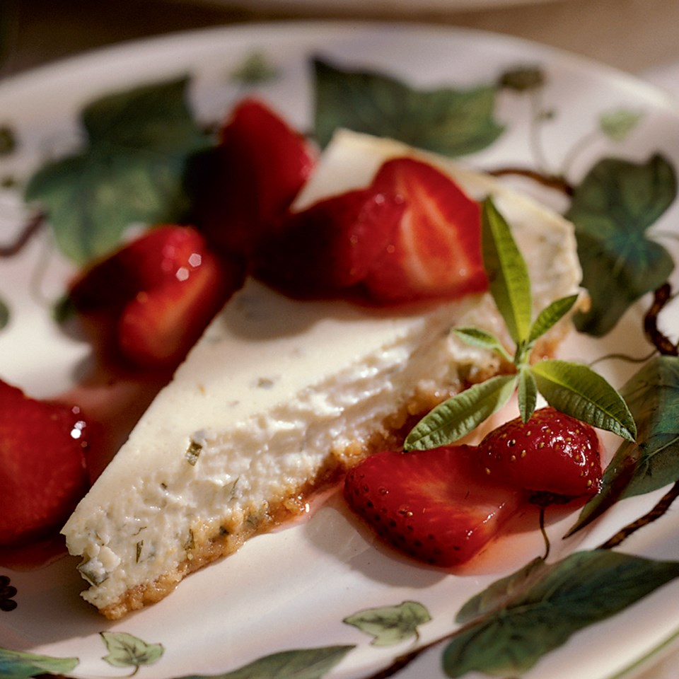 Lemon Verbena Cheesecake