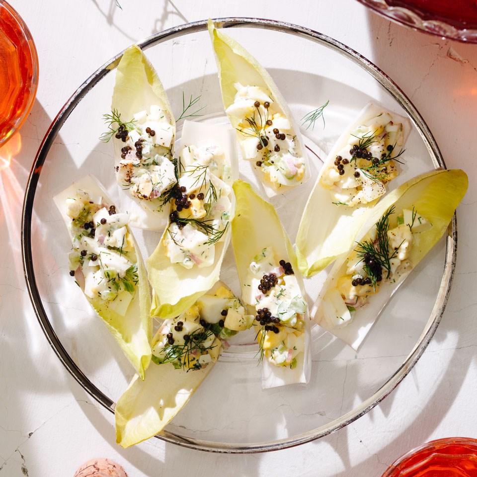Horseradish Egg Salad-Stuffed Endive