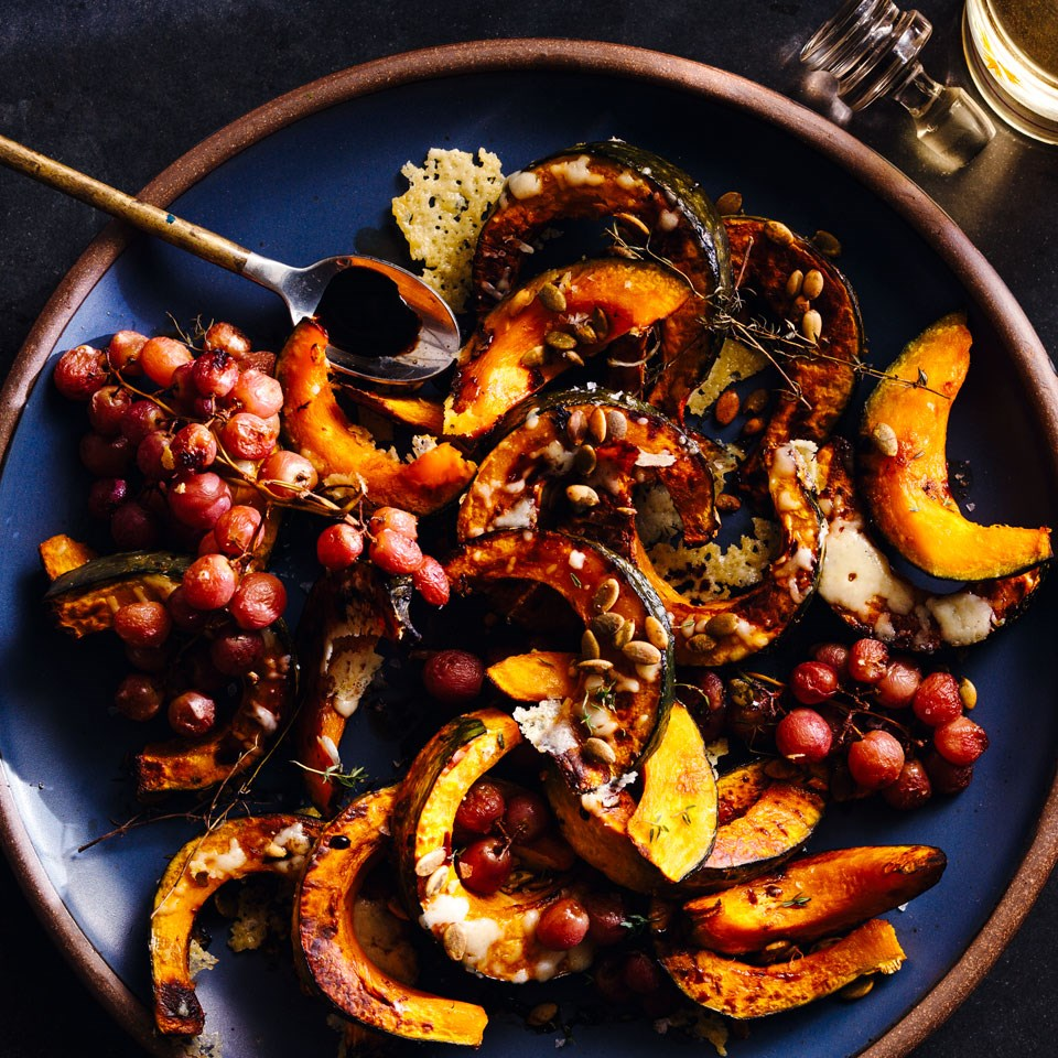 Roasted Kabocha Squash and Grapes