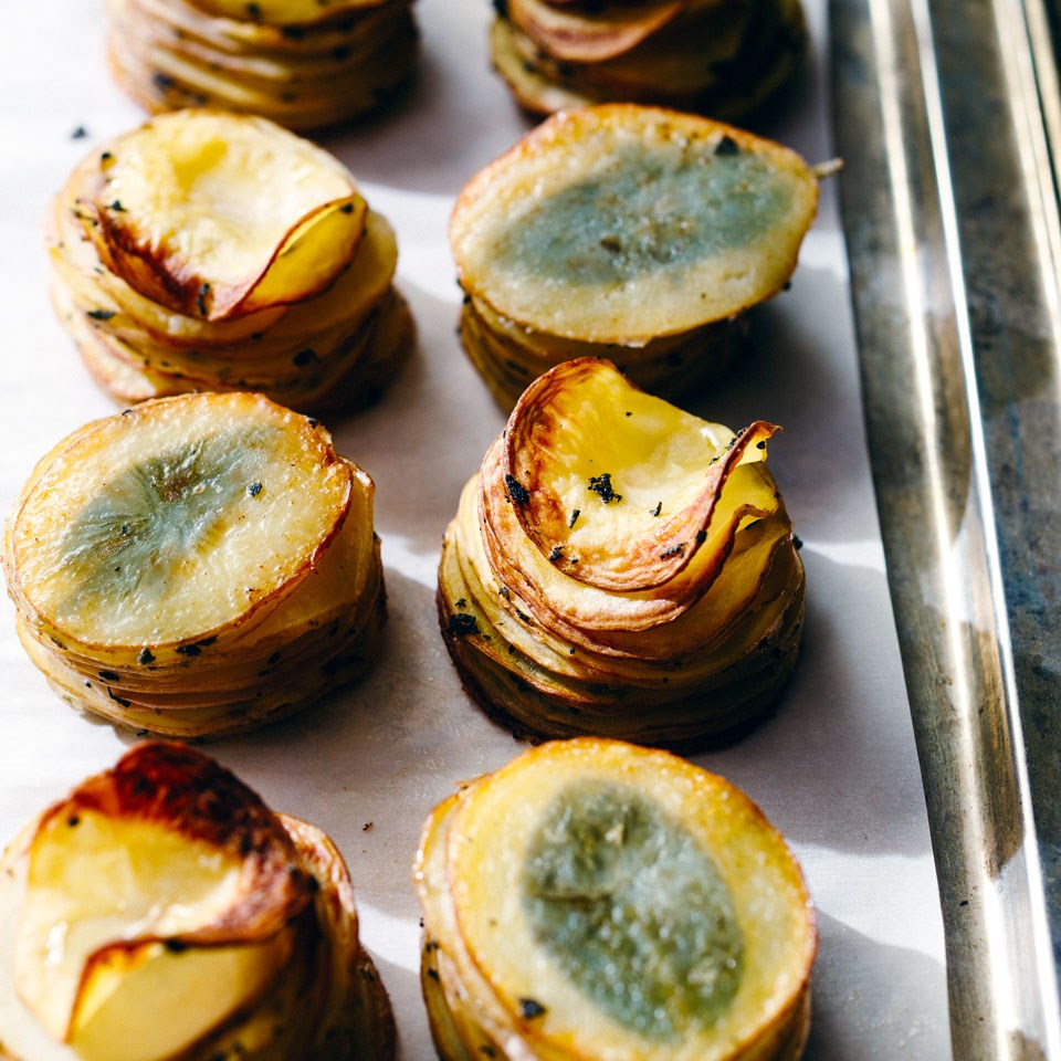 Crispy Potato Stacks with Fresh Sage