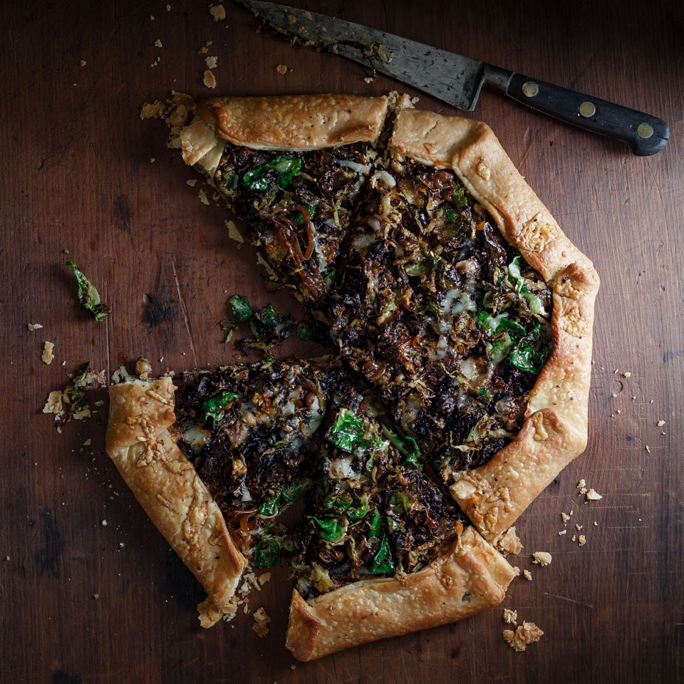 Caramelized Onion and Brussels Sprout Gallette