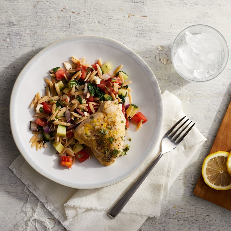 Mediterranean Chicken with Orzo Salad
