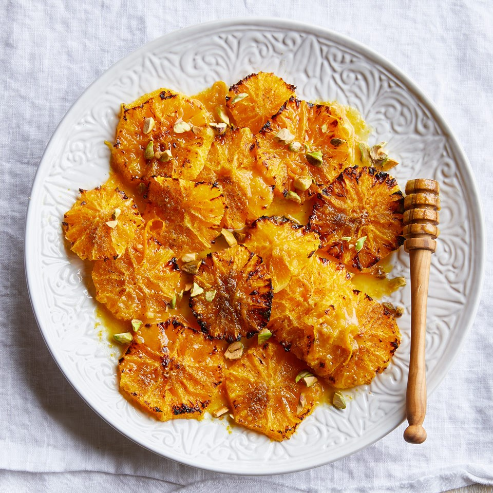 Caramelized Oranges with Cardamom Syrup