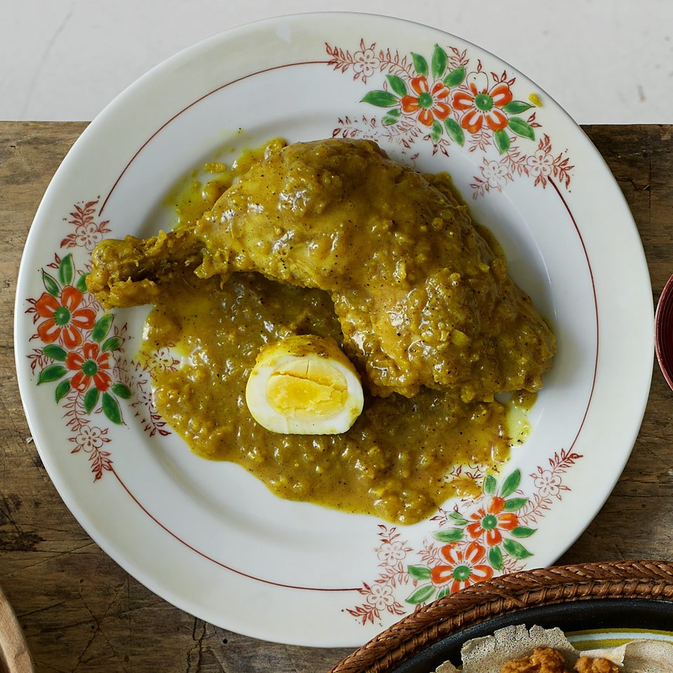 Doro Alicha (Chicken with Onions & Spiced Butter Sauce)