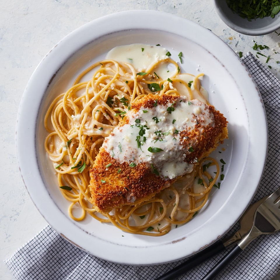 Creamy Lemon Chicken Parmesan