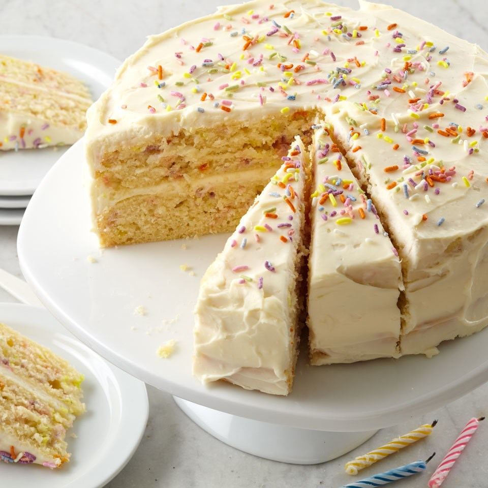 Confetti Birthday Cake Recipe