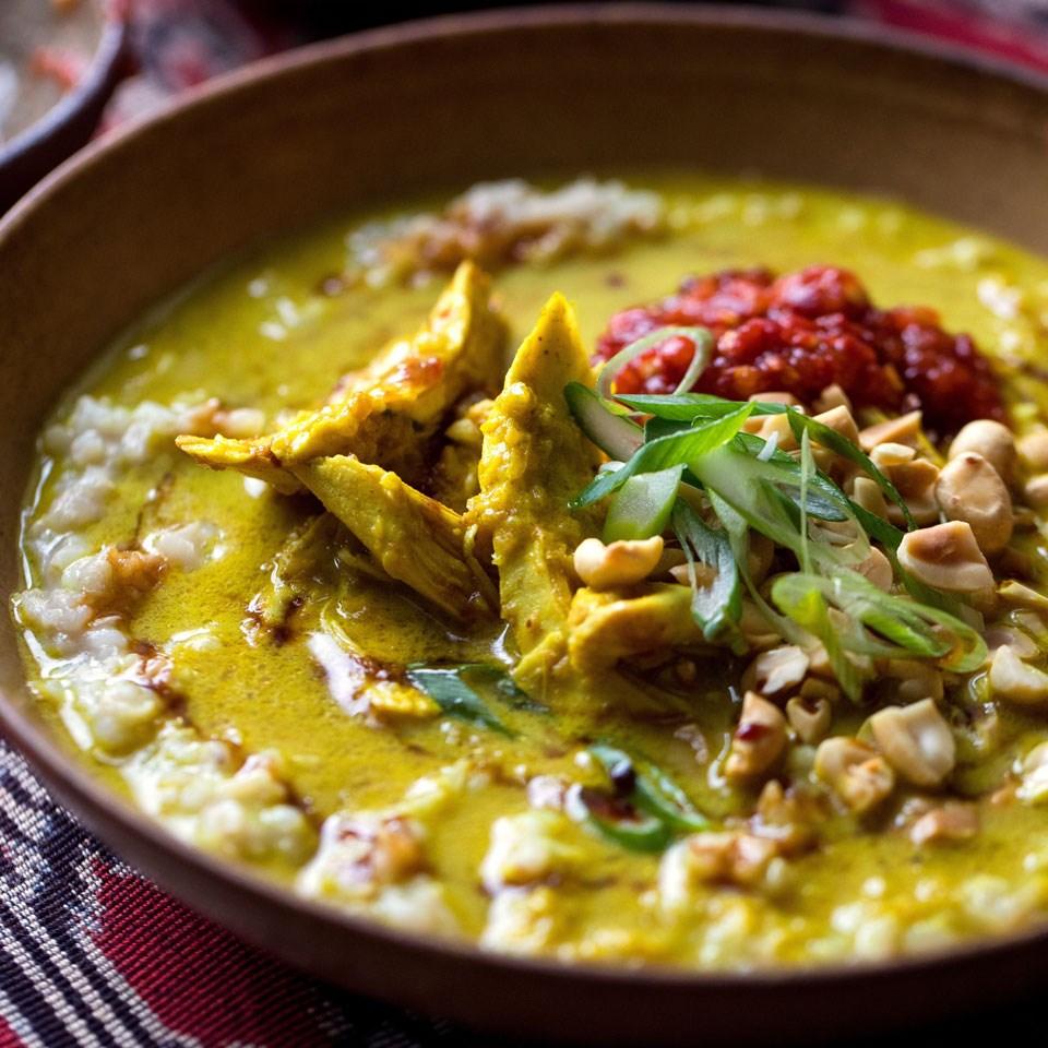 Jakarta-Style Savory Rice Porridge (Bubur Ayam Betawi)