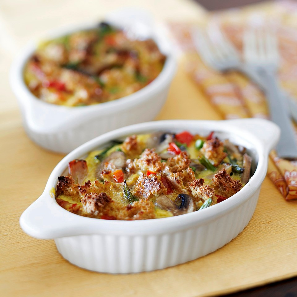Smoked Chicken Strata