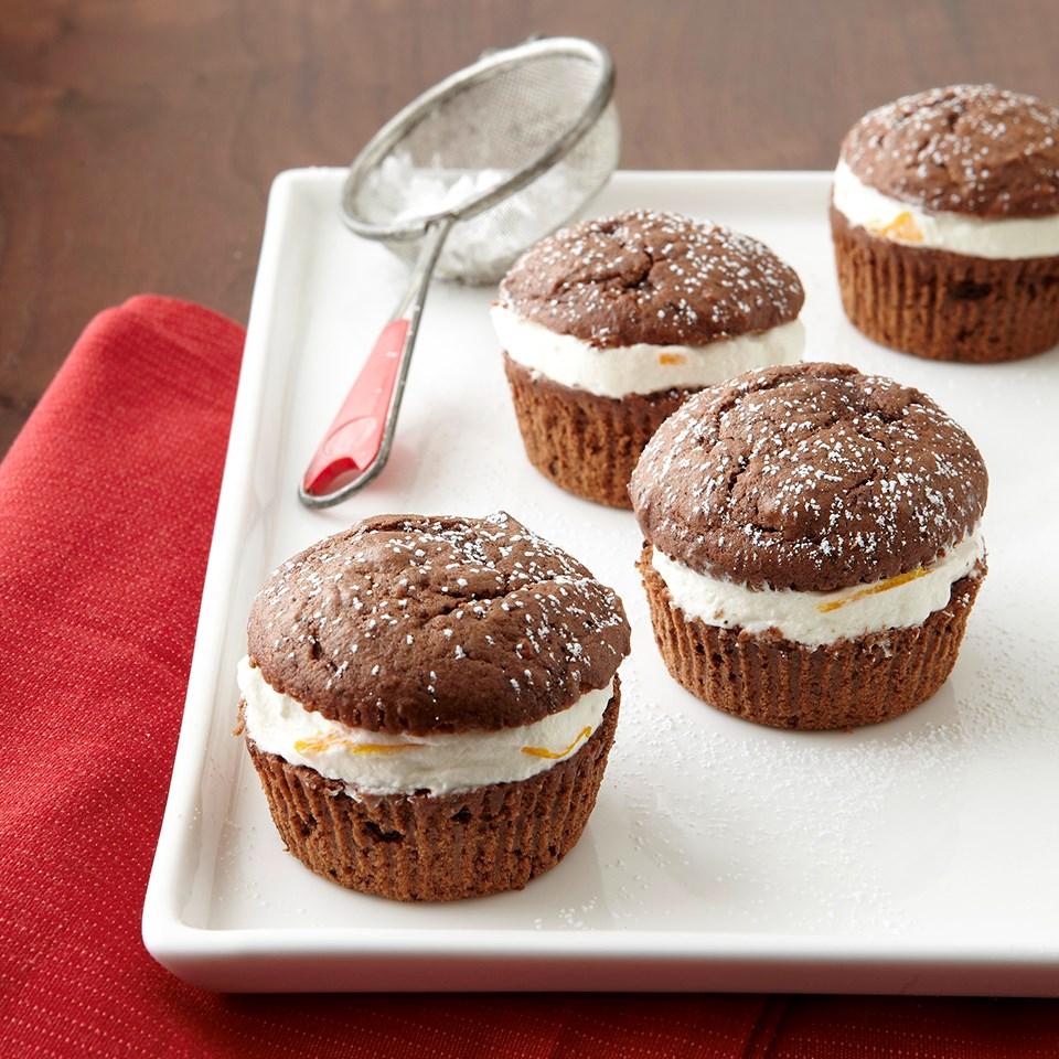 Orange-Spiced Mini Brownie-Cakes