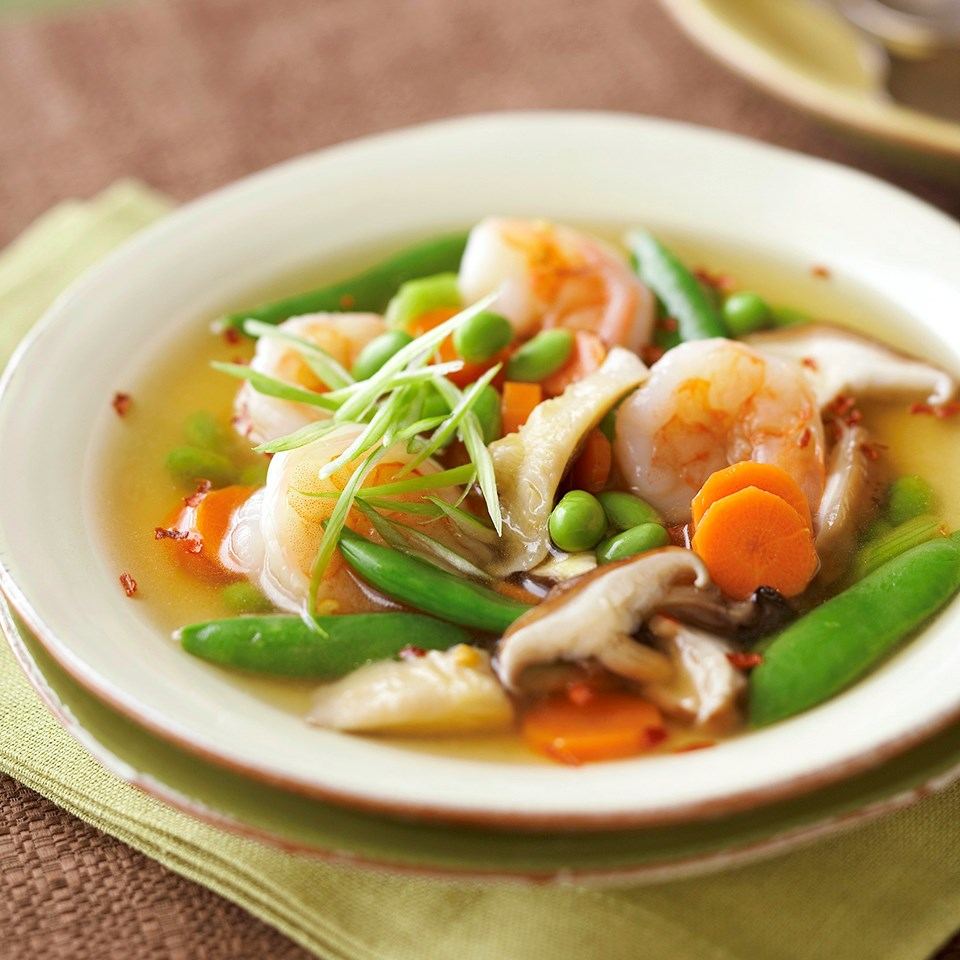 Asian Shrimp And Vegetable Soup Recipe