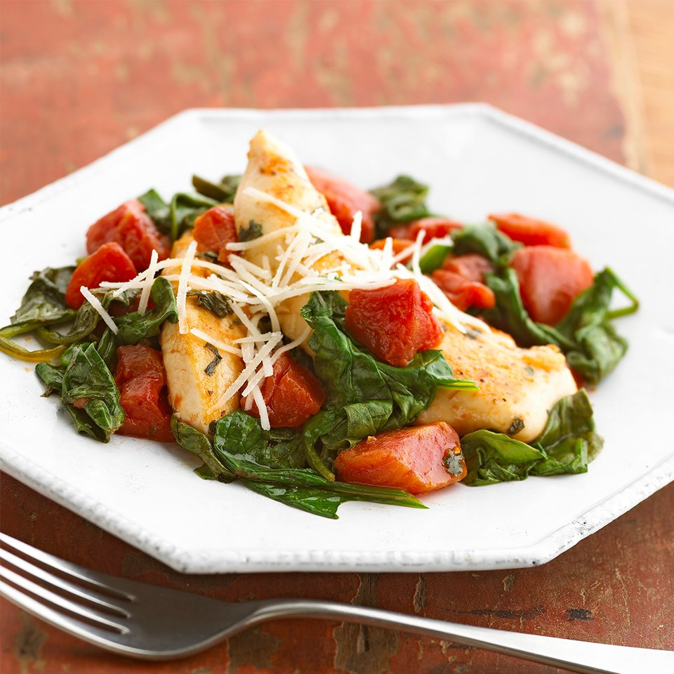 Skillet Tomato Chicken One Pan Recipe