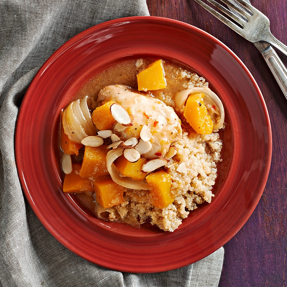 Weeknight Honey-Orange Chicken with Butternut Squash