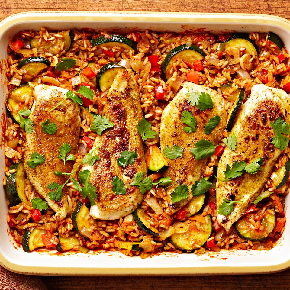 Tandoori Spiced Chicken and Rice Bake