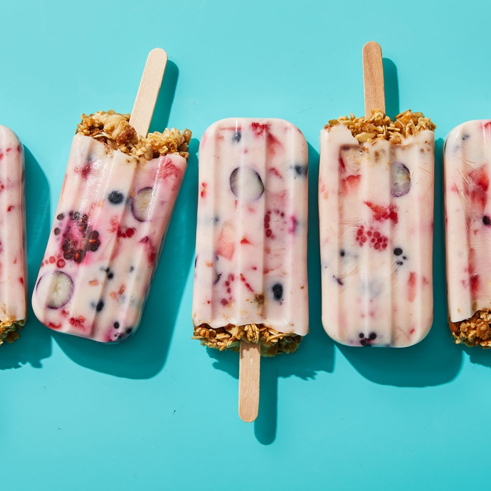 Granola and Yogurt Breakfast Popsicles