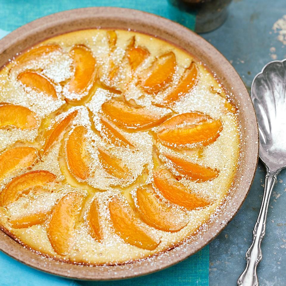 Apricot-Vanilla Clafoutis