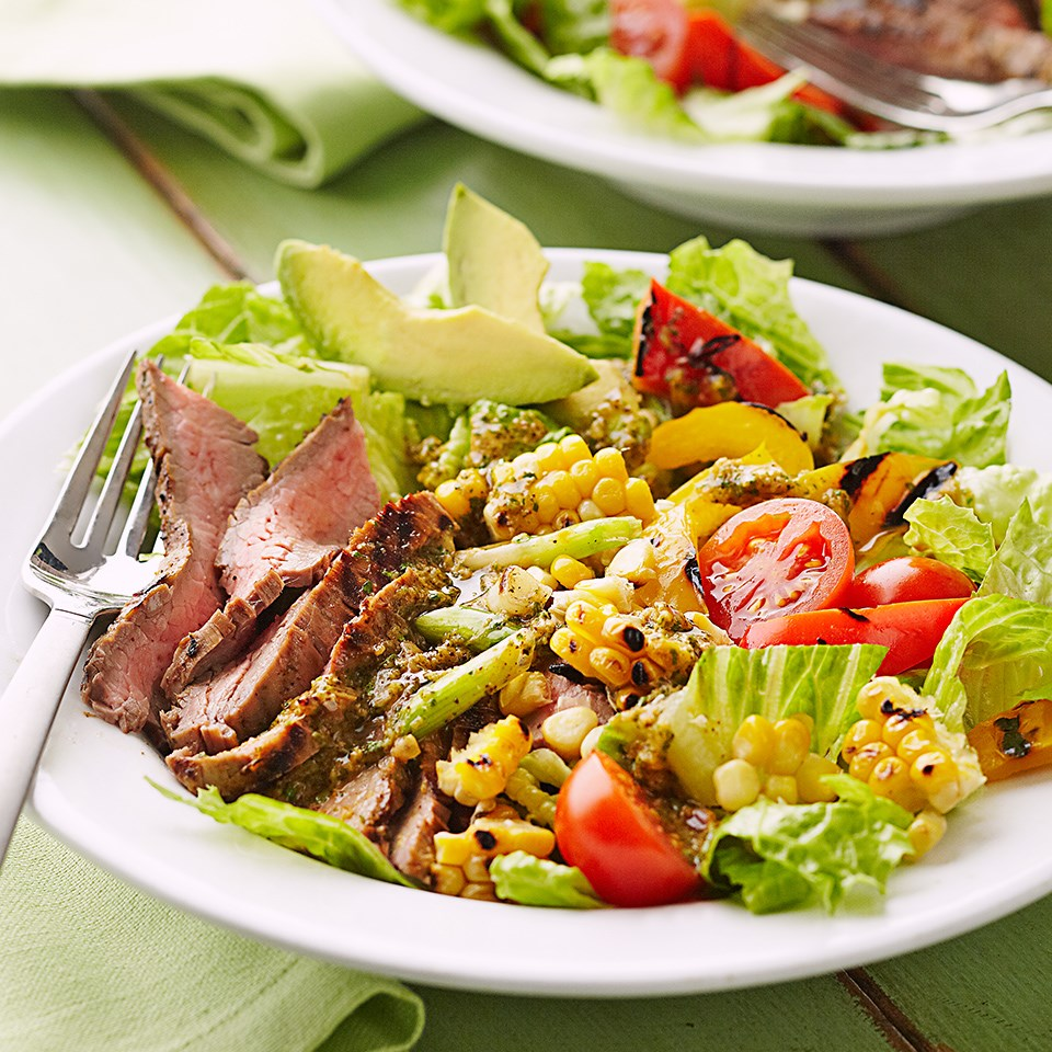 Grilled Marinated Flank Steak Salad