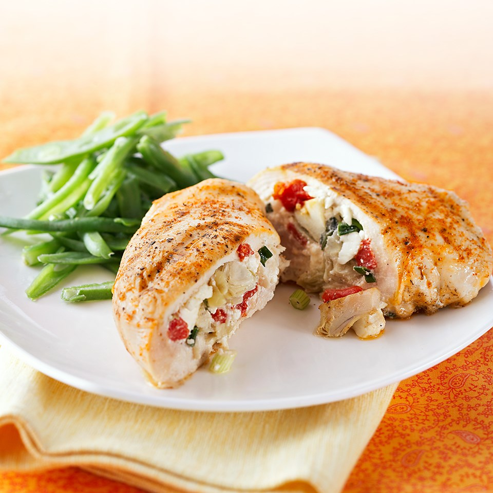 Mediterranean-Stuffed Chicken Recipe