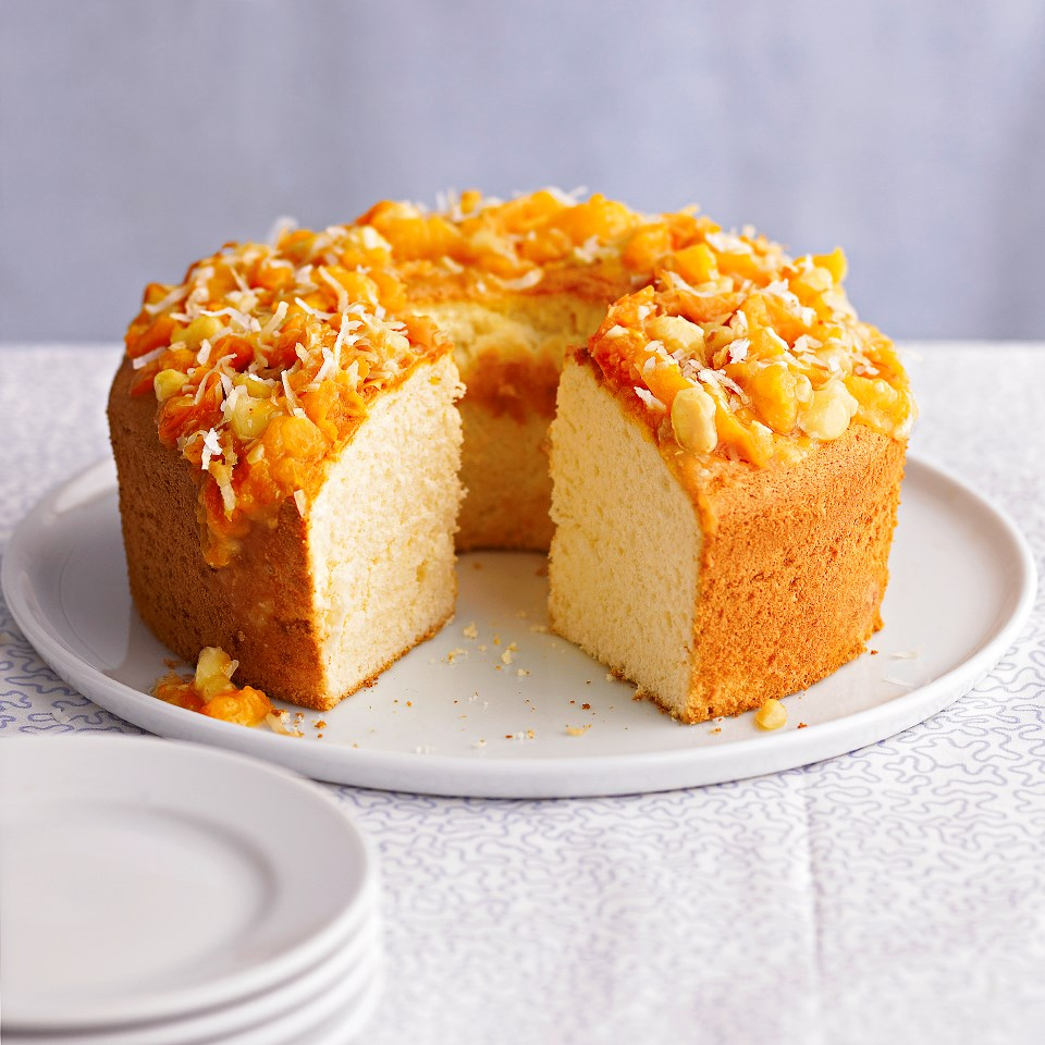 Pineapple Cake with Macadamia-Apricot Topper