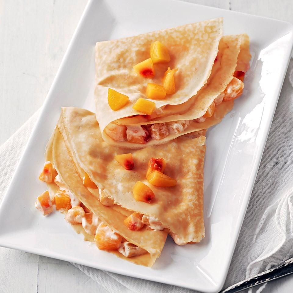 Peaches 'n Cream Crepes