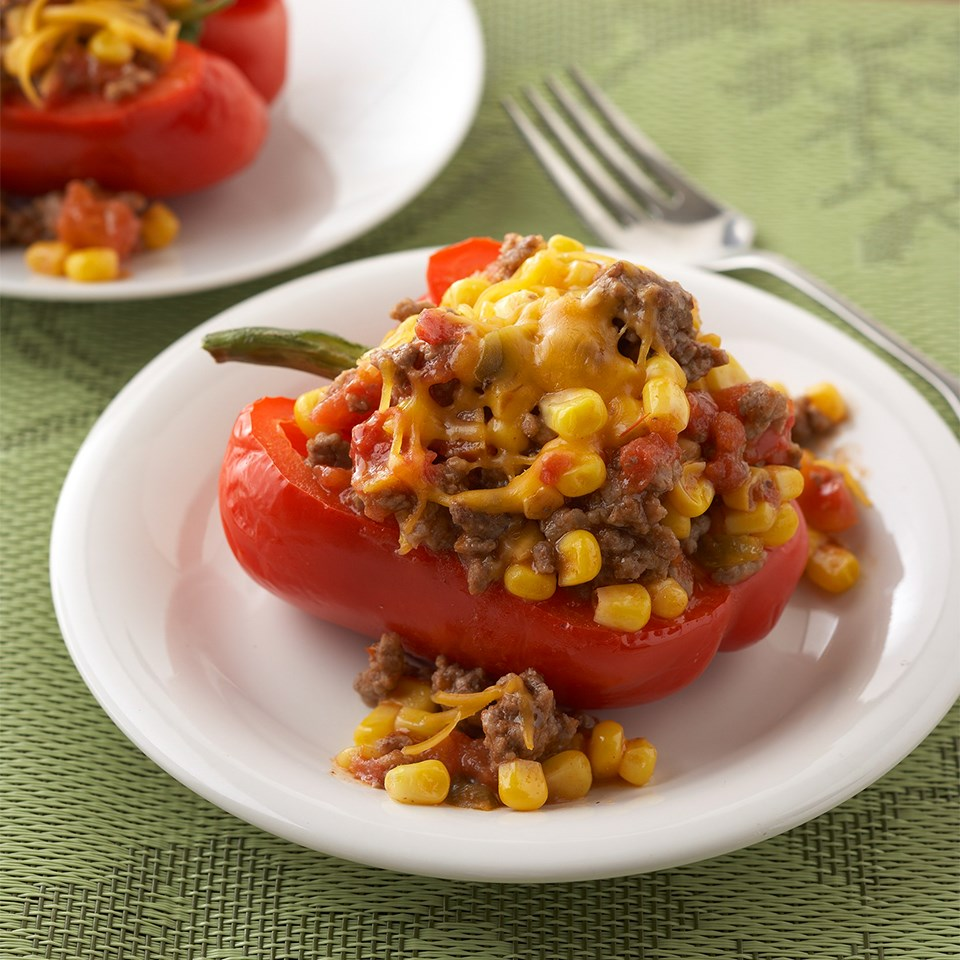 Mexican Beef and Corn Skillet Peppers