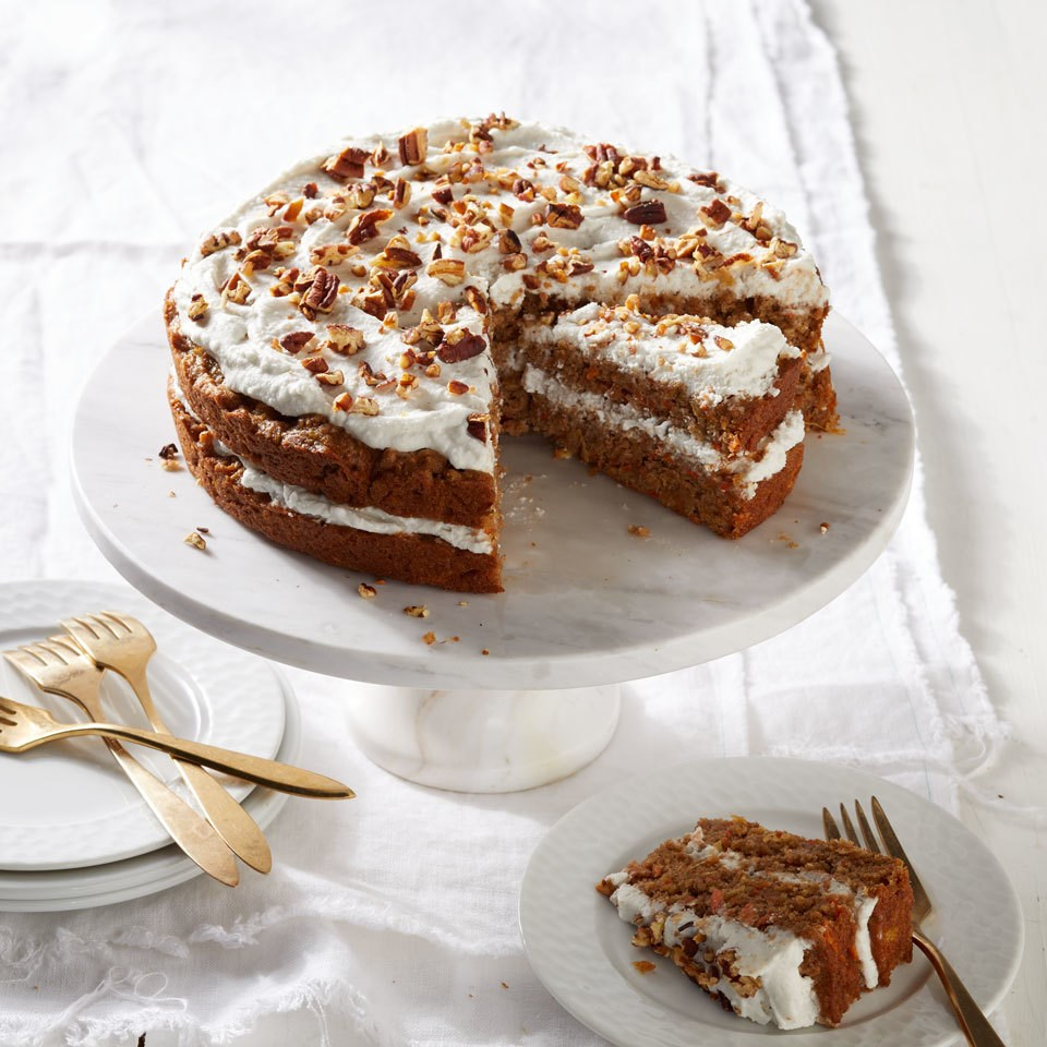 Vegan Carrot Cake With Coconut Cream Frosting Recipe Eatingwell