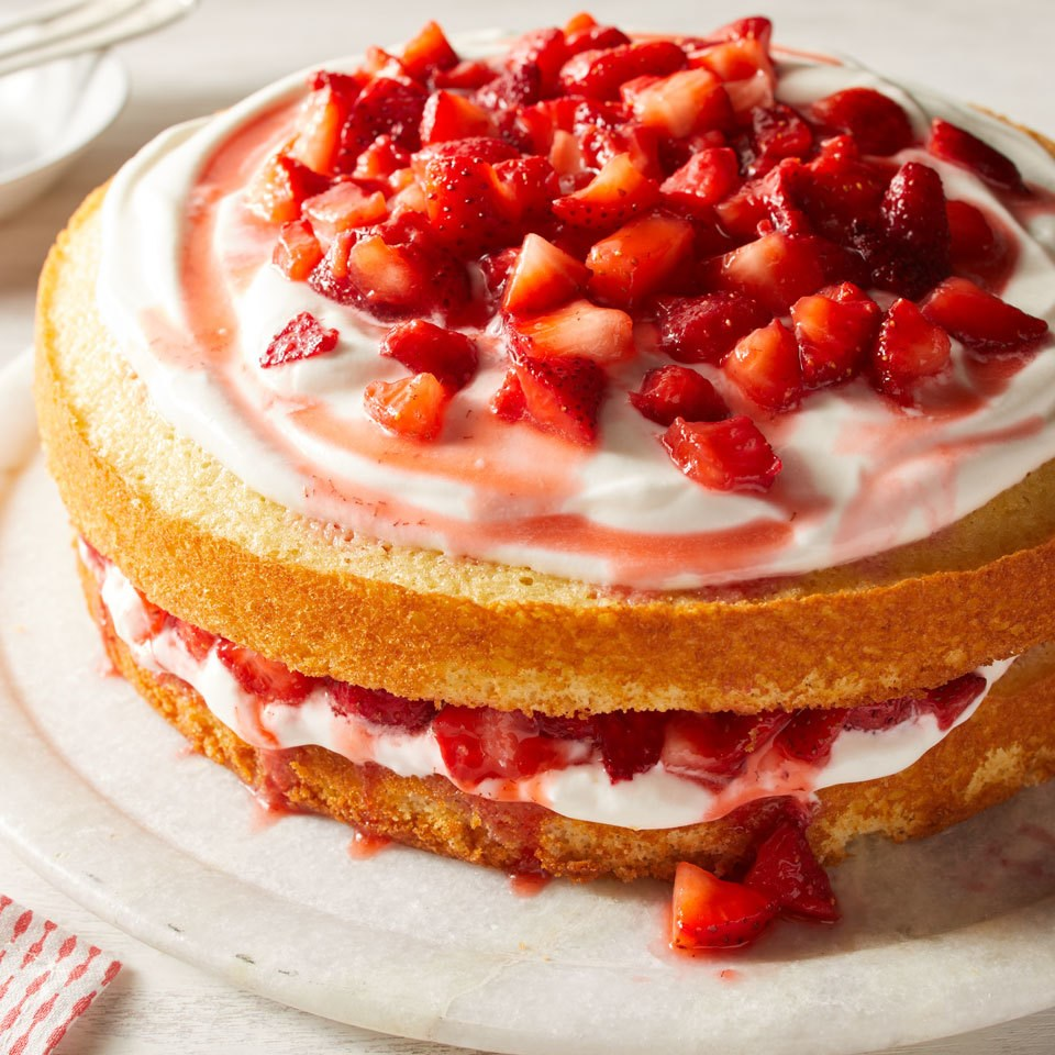 Strawberry Shortcake Cake Recipe Eatingwell