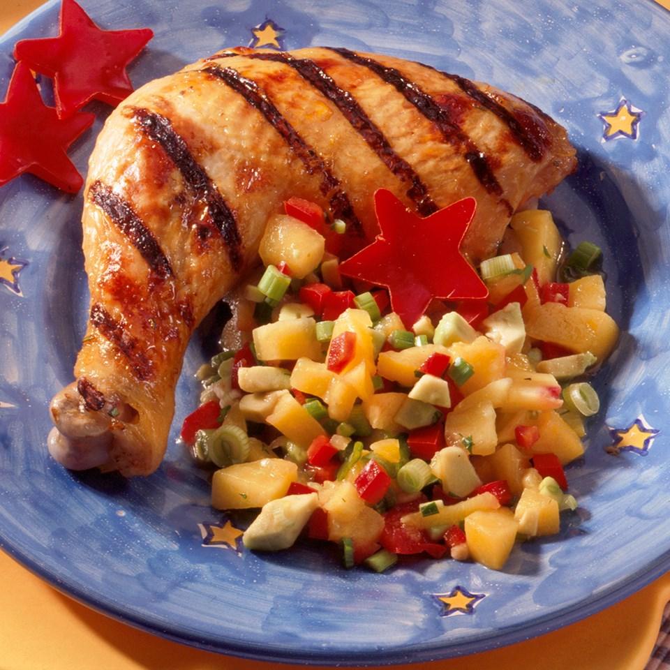 Grilled Chicken with Peach Salsa