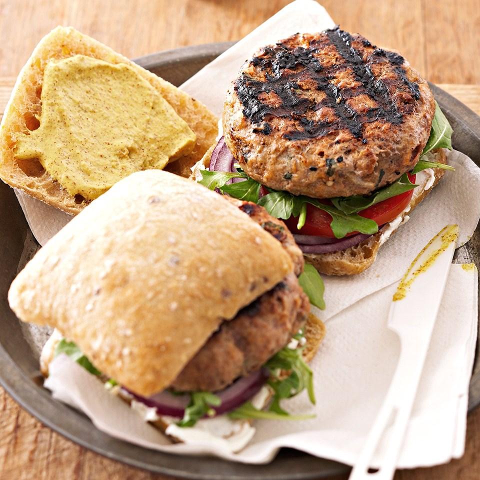 Grilled Herb Burgers