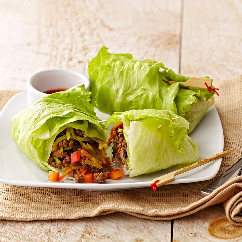 Korean Beef Lettuce Rolls