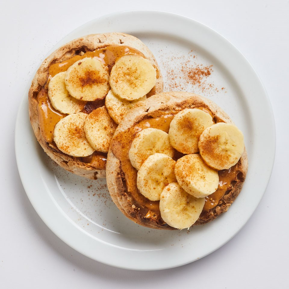 Peanut Butter-Banana English Muffin