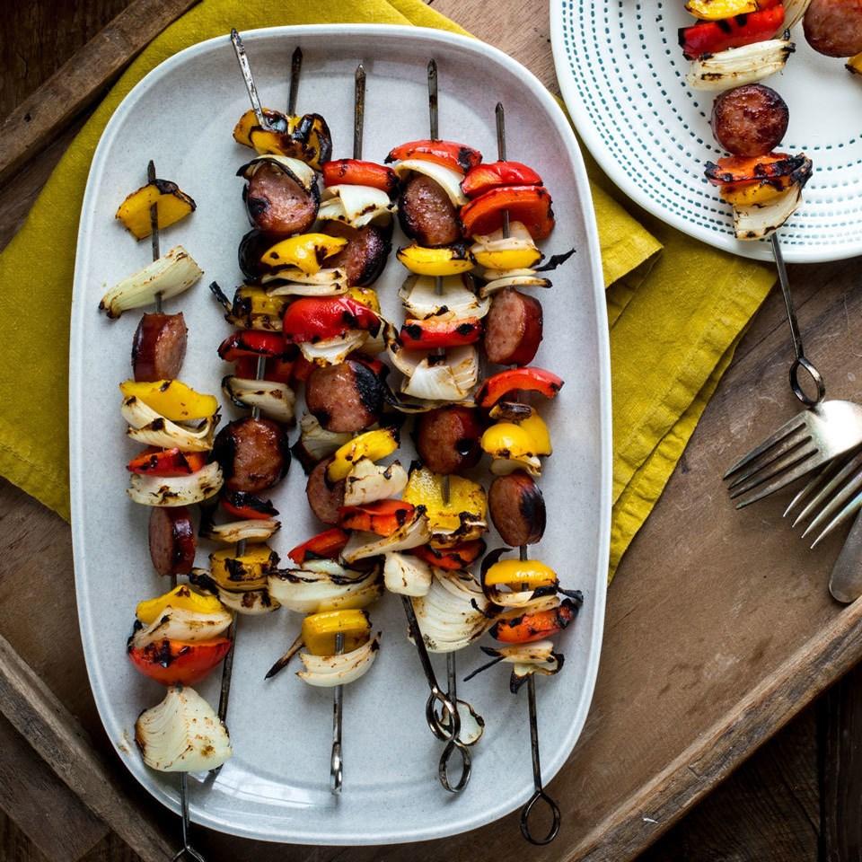 Jambalaya Sausage Kebabs