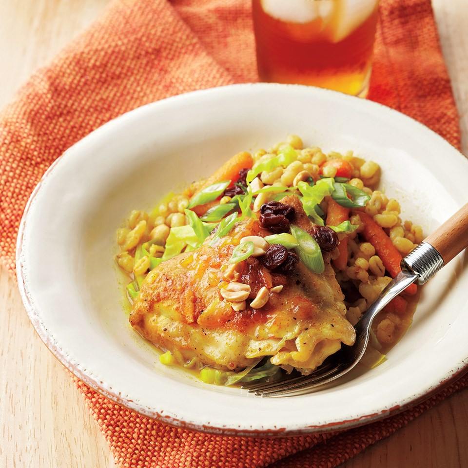 Curried Chicken, Barley, and Vegetables
