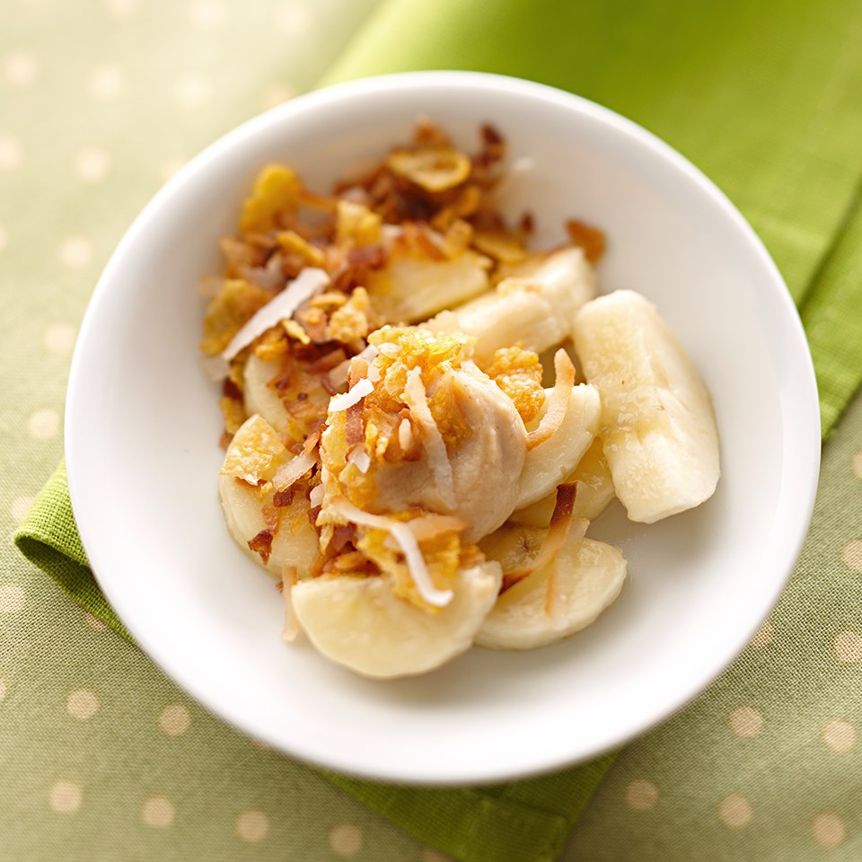 Coconut-Topped Bananas