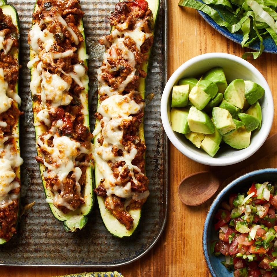 Taco-Stuffed Zucchini