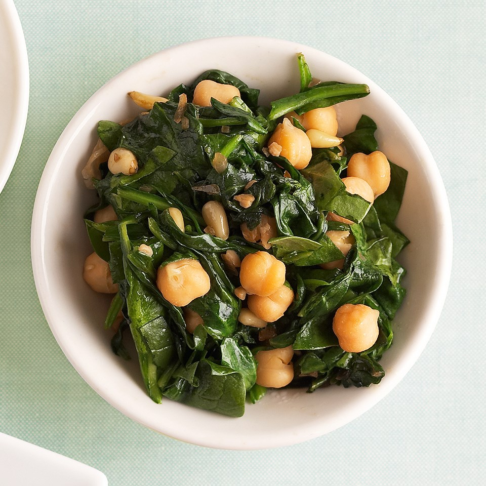 Spinach and Garbanzo Beans