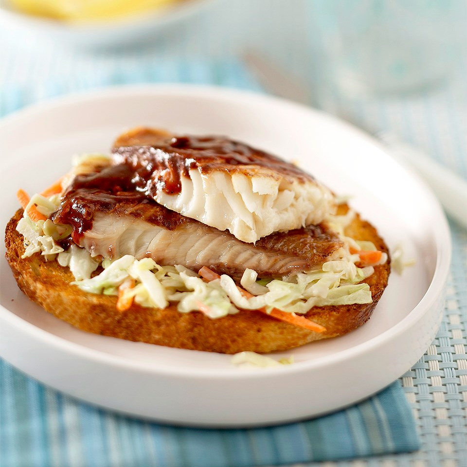 Open-Face Barbecue Tilapia Sandwiches