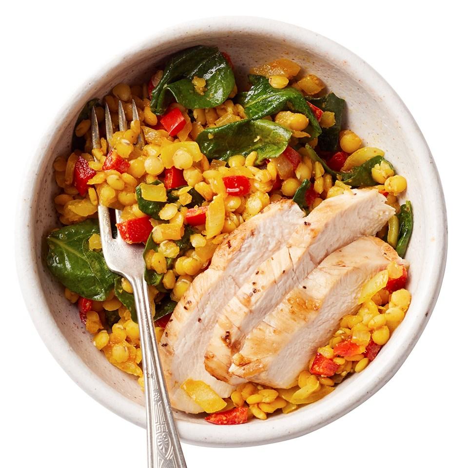 Lentil Vegetable Dal with Chicken