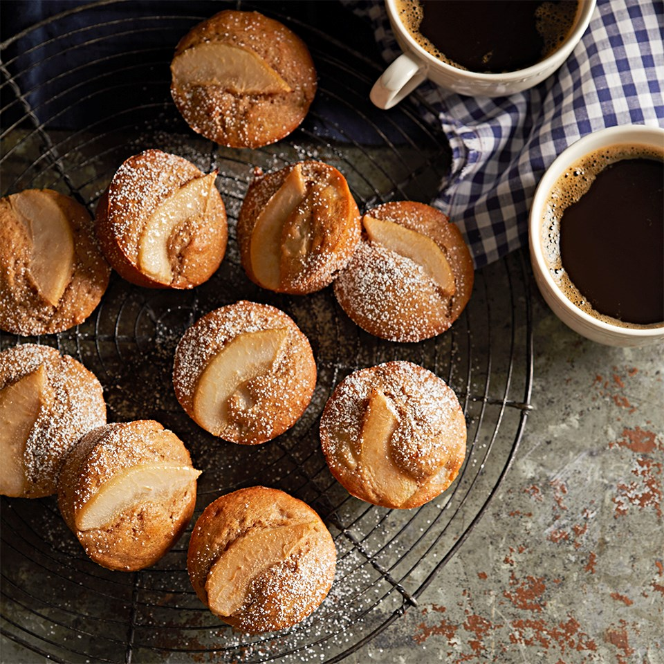 Cinnamon-Ginger Spiced Pear Muffins