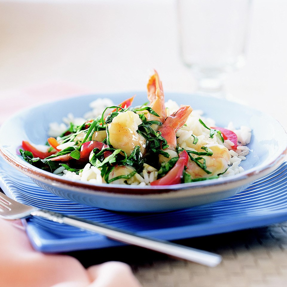 Hoisin and Citrus Shrimp Sauté