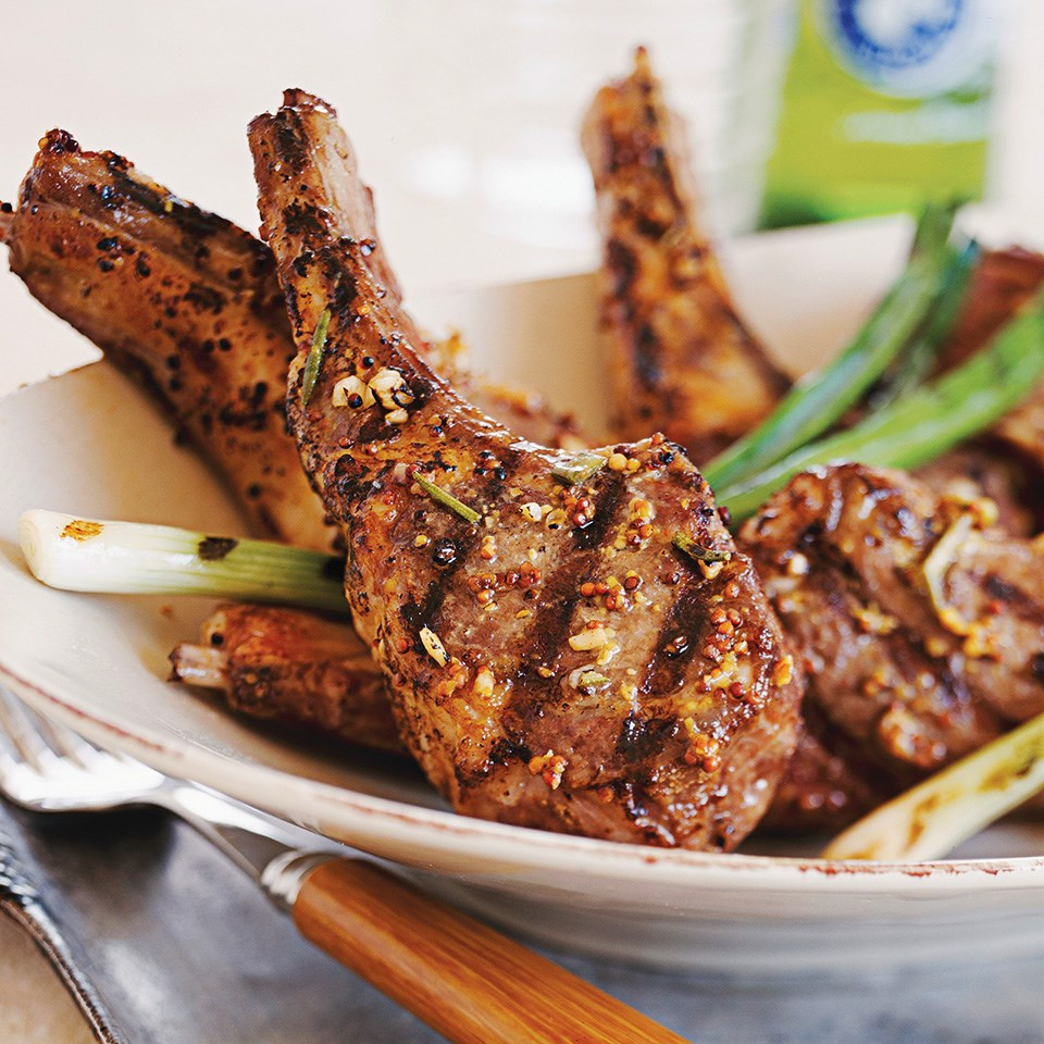 Mustard-Rosemary Grilled Lamb