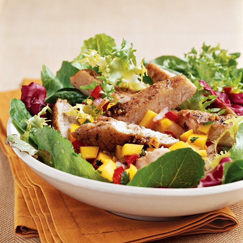 Spiced Jerk Turkey with Mango Salsa