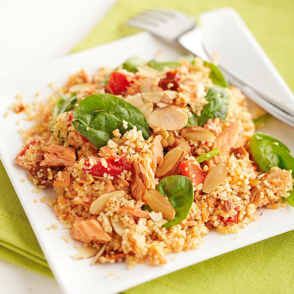 Salmon and Couscous Casserole