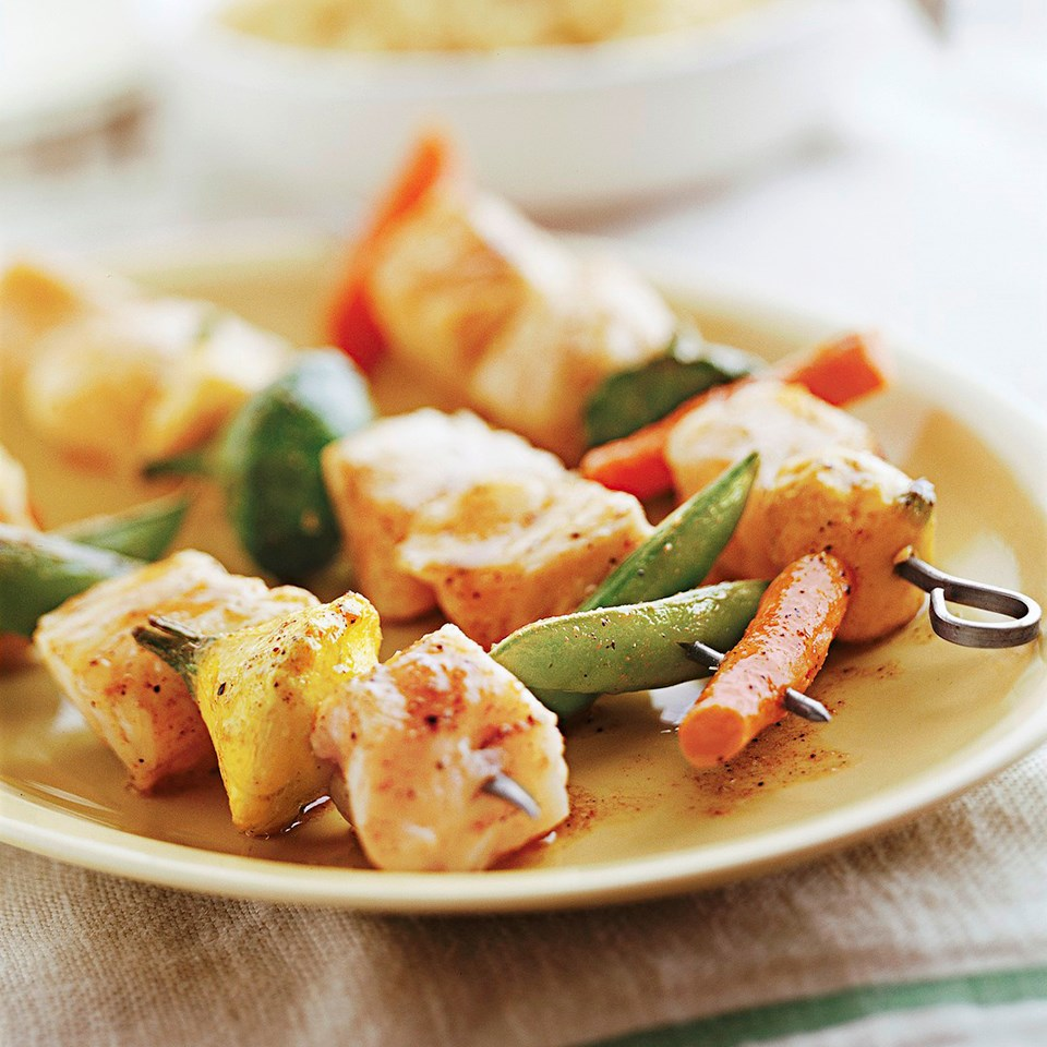 Spicy Fish Kabobs