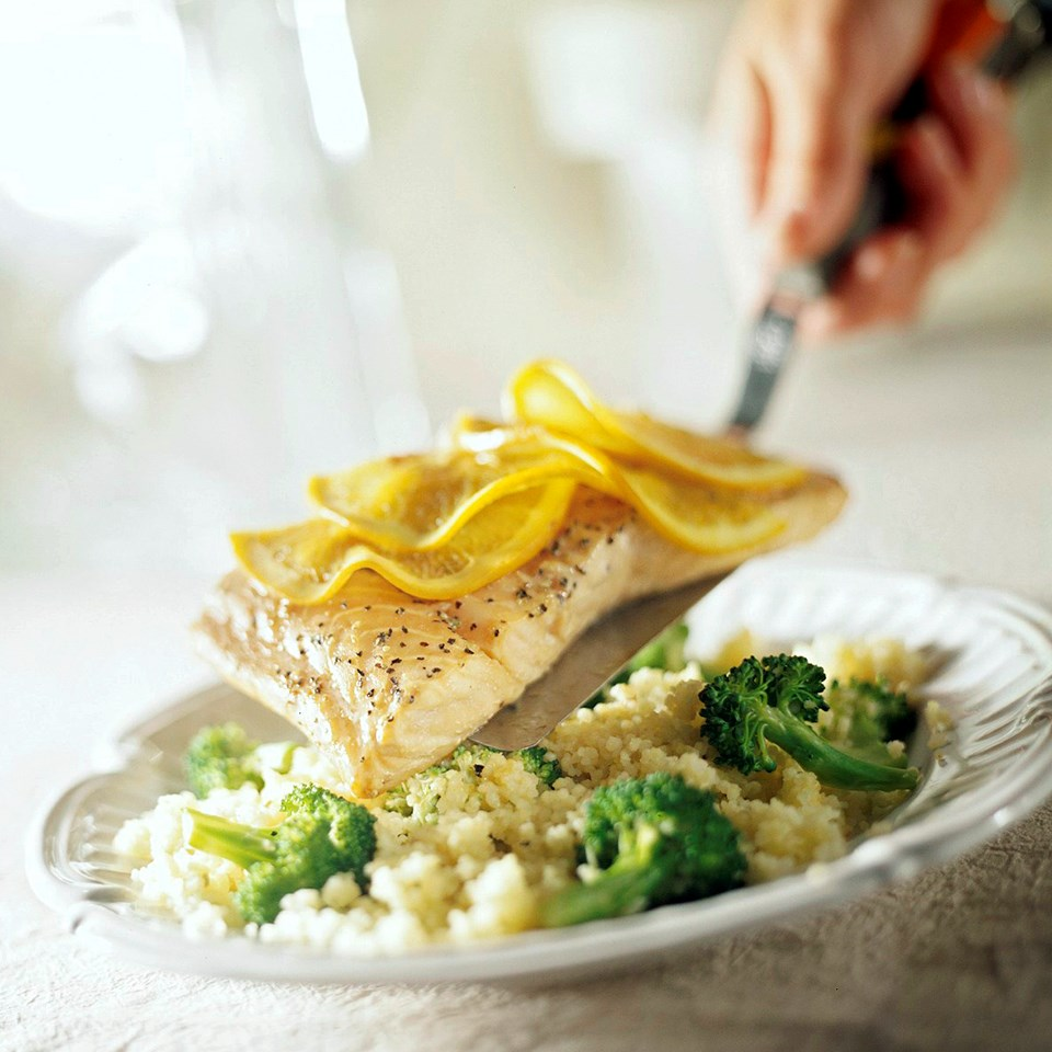 Salmon with Broccoli Couscous