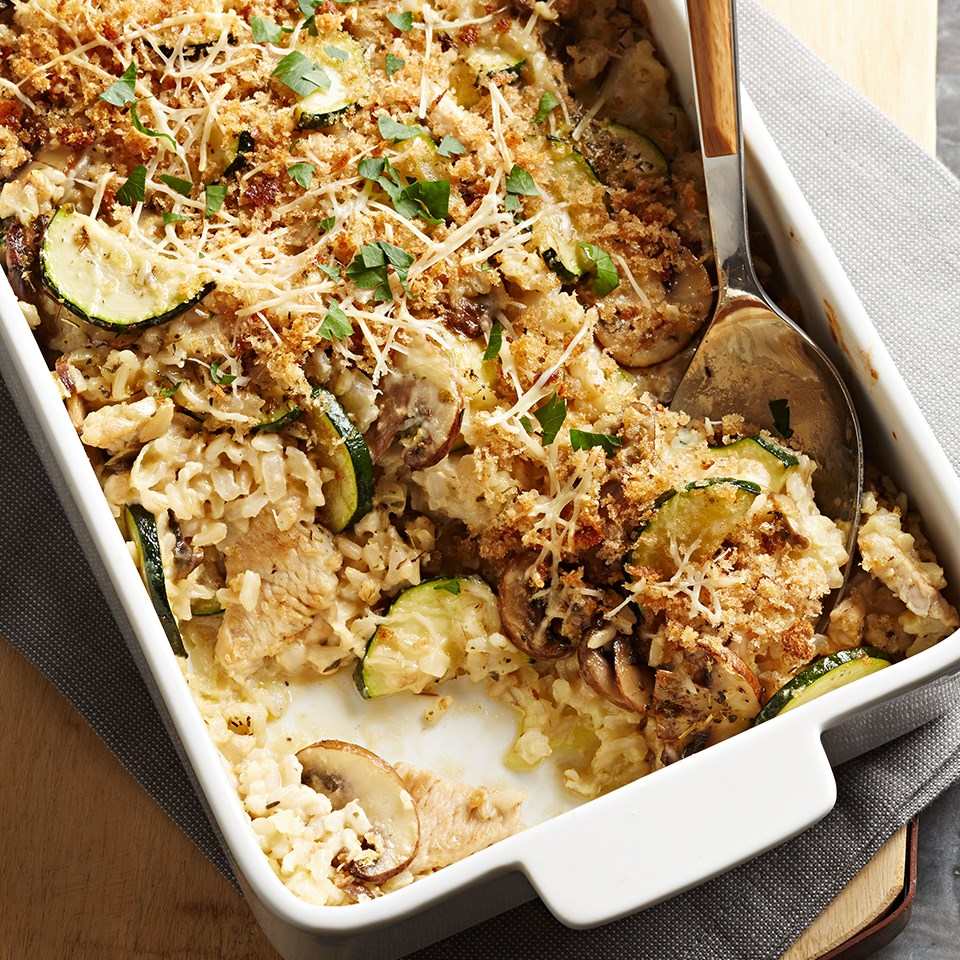 Creamy Turkey and Rice Bake