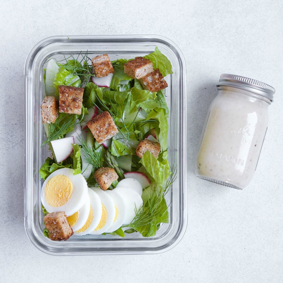 Spring Green Salad with Hard-Boiled Eggs