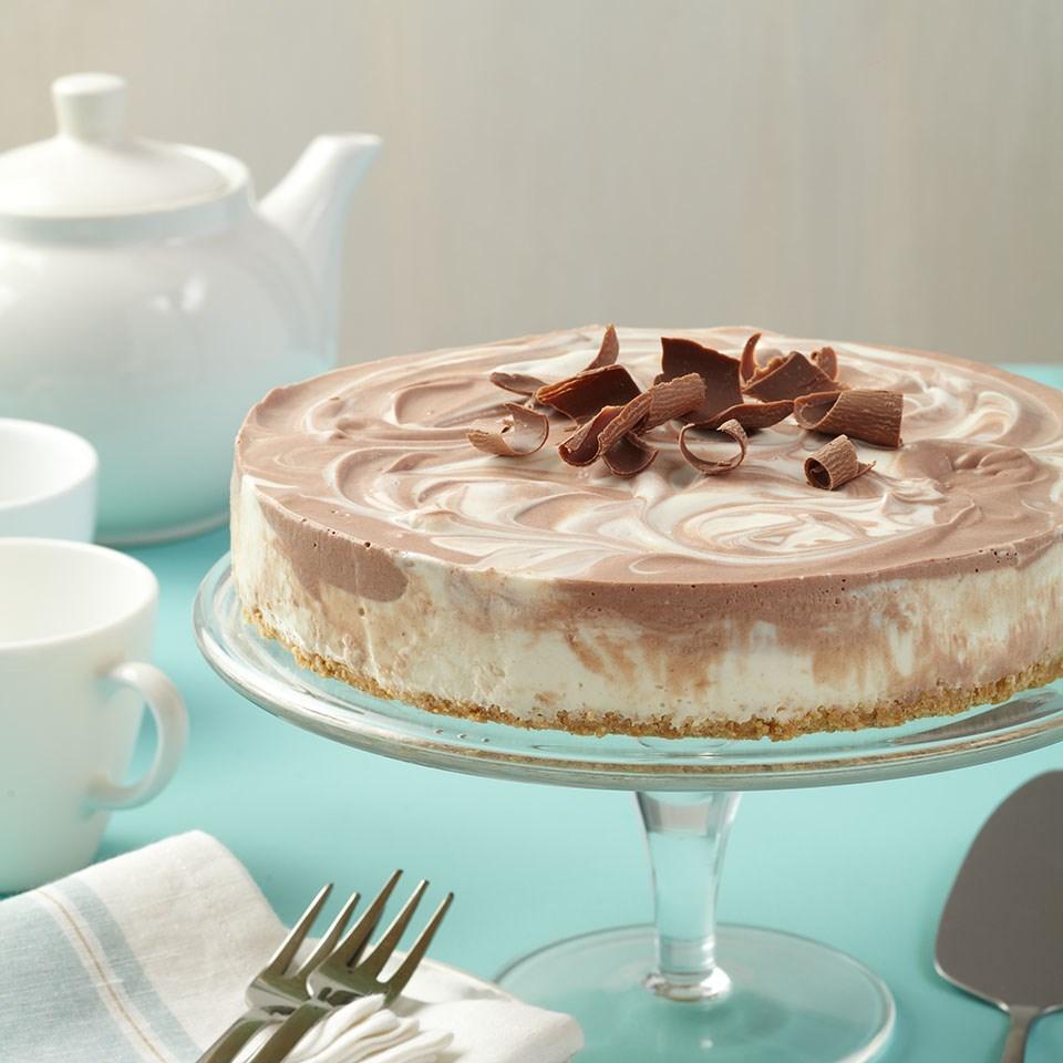 No-Bake Chocolate Swirl Cheesecake
