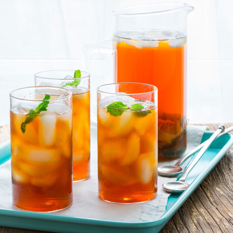 peach iced tea recipe eatingwell